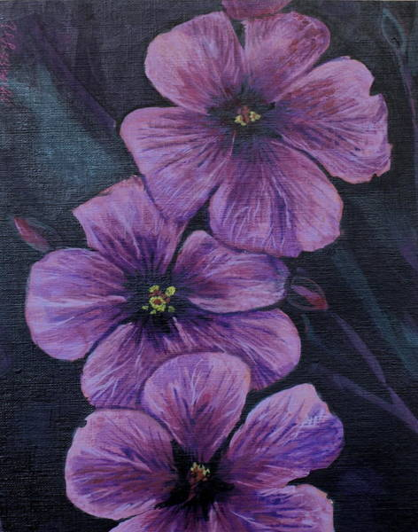 Wall Art - Painting - Purple by Vera Lysenko
