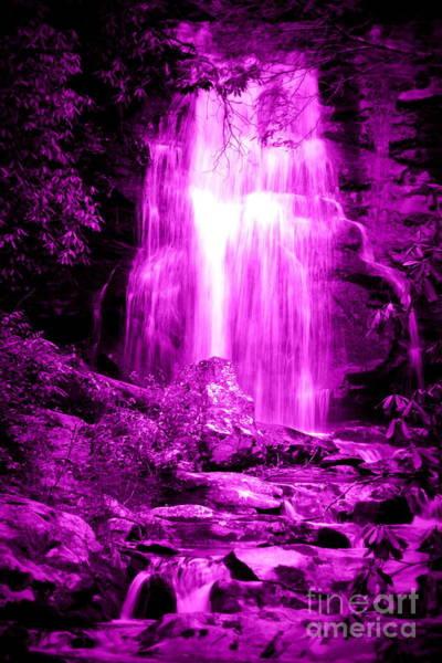 Photograph - Purple Waterfall by Cynthia Mask
