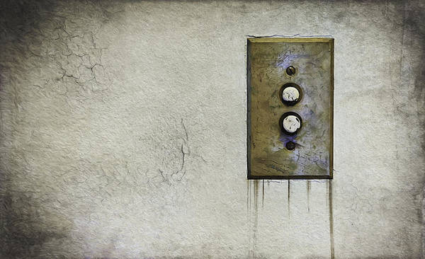 Electricity Photograph - Push Button by Scott Norris