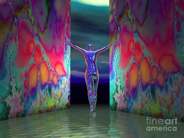 Digital Art - Pushing Boundaries by Sandra Bauser Digital Art