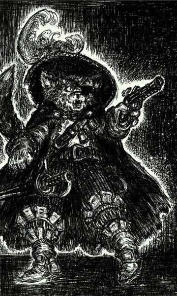 Holy Ghost Drawing - Puss In Boots by Michael Mynatt