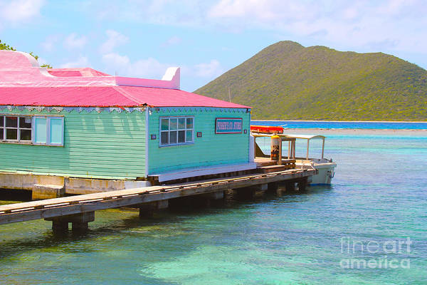 Bath Photograph - Pussers Bvi by Carey Chen