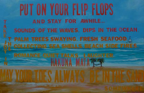 Painting - Put On Your Flip Flops by Patti Schermerhorn