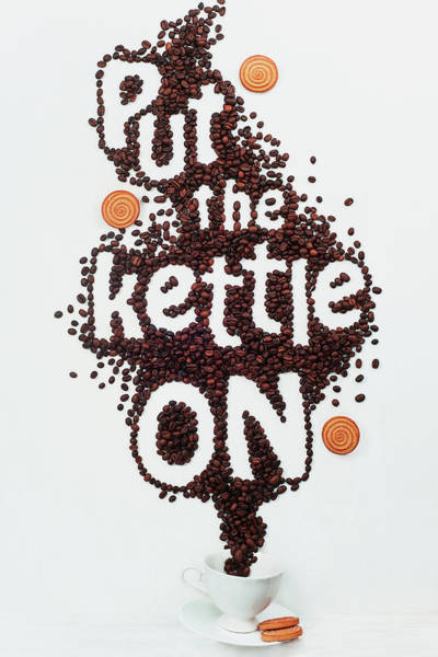 Text Wall Art - Photograph - Put The Kettle On! by Dina Belenko