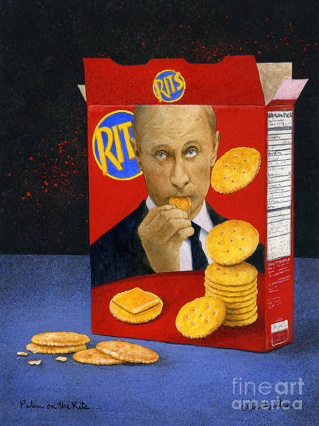 Wall Art - Painting - Putin On The Rits... by Will Bullas