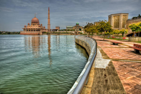 Mosque Photograph - Putra Mosque by Adrian Evans