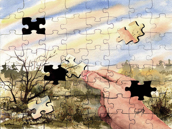 Painting - Puzzled by Sam Sidders