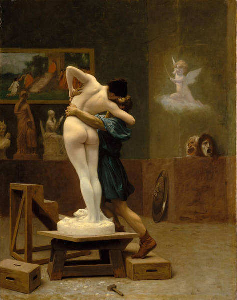 Art For Sale Online Painting - Pygmalion And Galatea by Jean-Leon Gerome