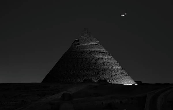 Wall Art - Photograph - Pyramid At Night by Vincent Chen