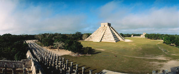 Castillo Wall Art - Photograph - Pyramid Chichen Itza Mexico by Panoramic Images
