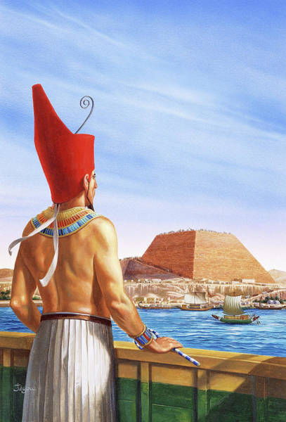 Kingship Wall Art - Photograph - Pyramid Construction by Christian Jegou Publiphoto Diffusion/ Science Photo Library