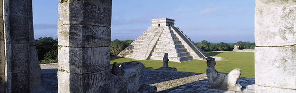Chichen Itza Photograph - Pyramid In A Field, El Castillo by Panoramic Images