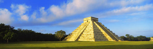 Chichen Itza Photograph - Pyramid In A Field, Kukulkan Pyramid by Panoramic Images