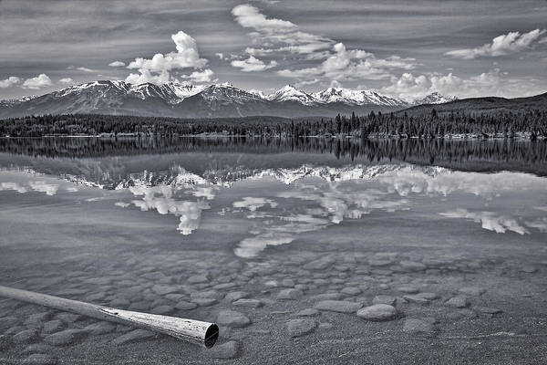 Photograph - Pyramid Lake - Black And White by Stuart Litoff