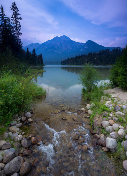 Wall Art - Photograph - Pyramid Mountain And Lake. by Cale Best