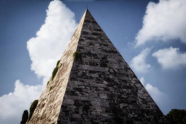Historic Triangle Photograph - Pyramid Of Rome II by Joan Carroll