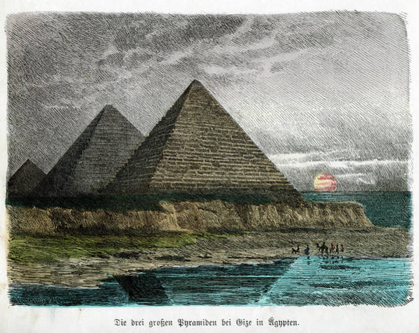 Wonders Of The World Photograph - Pyramids Of Giza by Cci Archives
