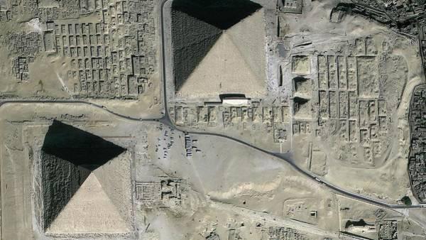 Giza Photograph - Pyramids Of Giza by Geoeye/science Photo Library