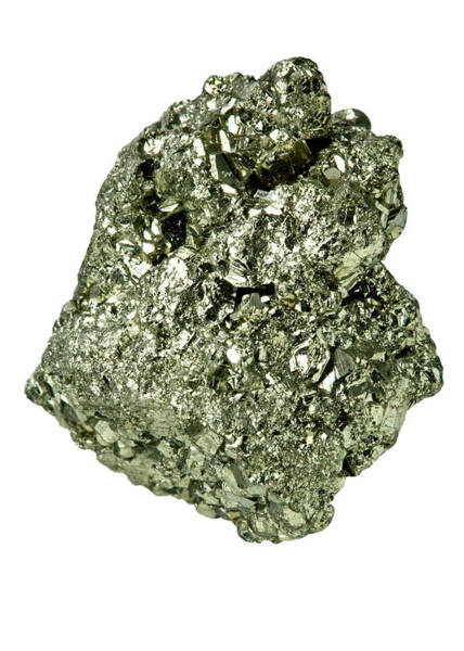 Wall Art - Photograph - Pyrite Mineral Stone by Natural History Museum, London/science Photo Library