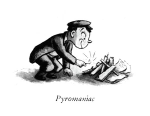 Bully Drawing - Pyromaniac by William Steig