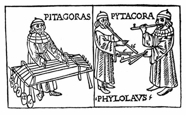 Woodcut Photograph - Pythagoras by Universal History Archive/uig
