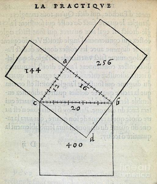 Wall Art - Photograph - Pythagorean Theorem, 16th Century by Middle Temple Library