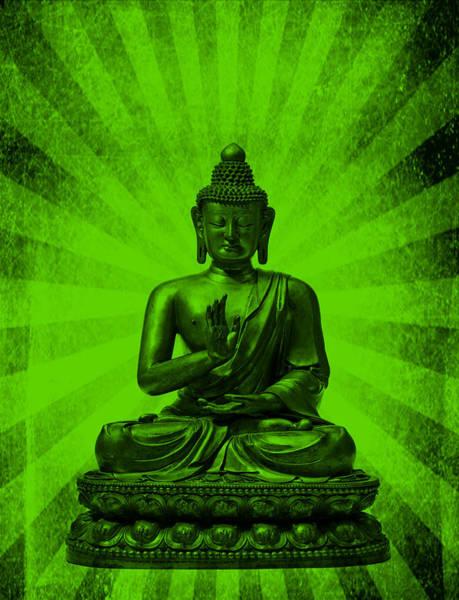 Mixed Media - Q Buddha by Michelle Dallocchio