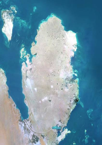 Bahrain Photograph - Qatar by Planetobserver/science Photo Library