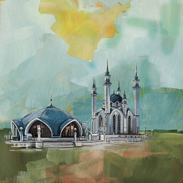 Wall Art - Painting - Qol Sharif Mosque by Corporate Art Task Force