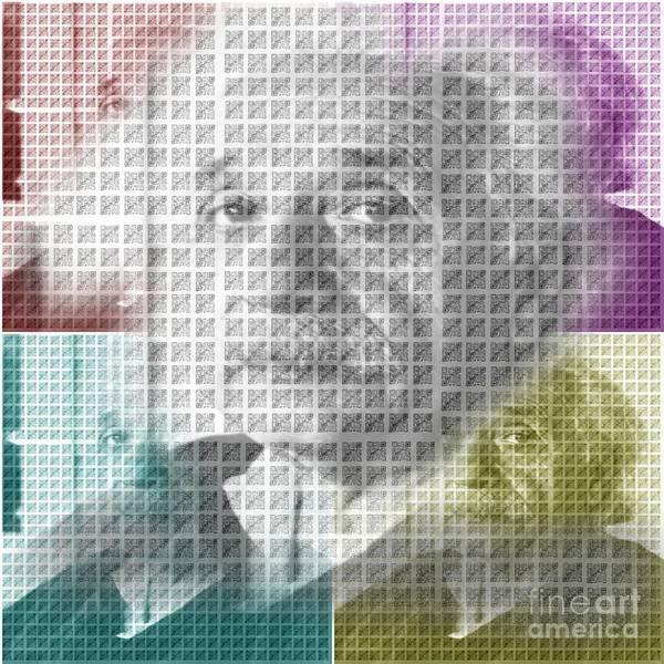 Barcode Digital Art - Qr Einstein by Deon Kohl