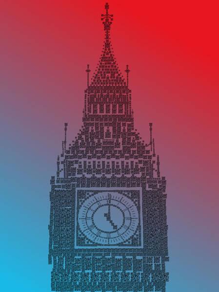 Photograph - Qr Pointillism - Big Ben 2 by Richard Reeve