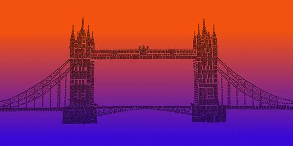 Photograph - Qr Pointillism - Tower Bridge 1 by Richard Reeve