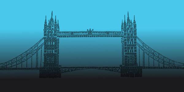 Photograph - Qr Pointillism - Tower Bridge 2 by Richard Reeve