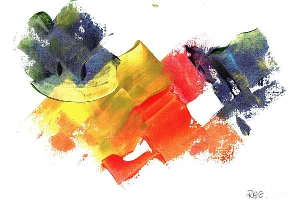 Painting - Quack Quack Abstract Duck by Rosetta Elsner ARTist