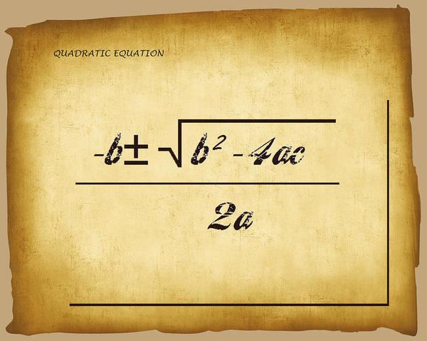Digital Art - Quadratic Equation - Aged by Paulette B Wright