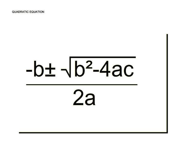 Digital Art - Quadratic Equation B-w by Paulette B Wright