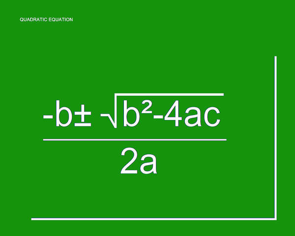 Digital Art - Quadratic Equation Green-white by Paulette B Wright