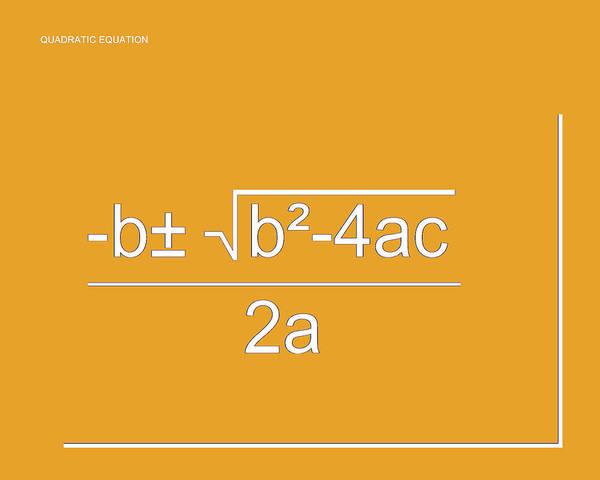 Digital Art - Quadratic Equation Orange-white by Paulette B Wright