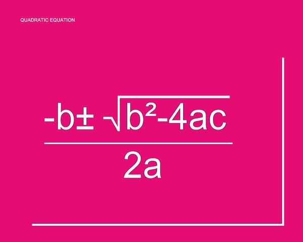 Digital Art - Quadratic Equation by Paulette B Wright