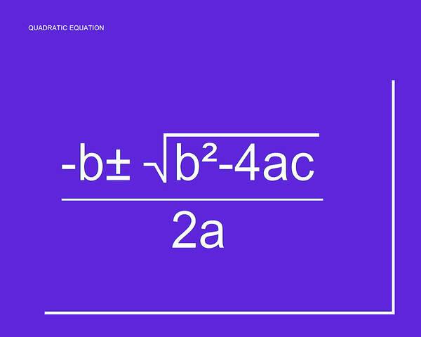 Digital Art - Quadratic Equation Purple-white by Paulette B Wright