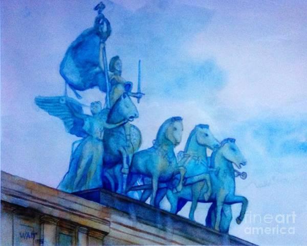 Painting - Quadriga At Grand Army Plaza by Nancy Wait