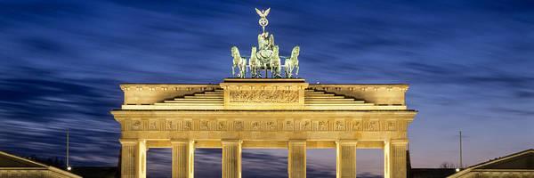 Brandenburg Gate Photograph - Quadriga Statue On Brandenburg Gate by Panoramic Images