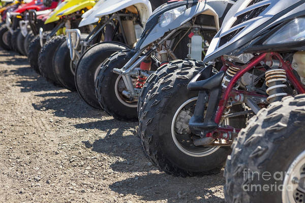 Photograph - Quads Or Atv's Lined Up At Starting Line by Bryan Mullennix