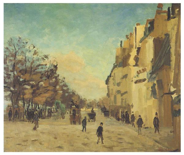 Gare Painting - Quai De La Gare Snow by Jean-Baptiste Armand Guillaumin