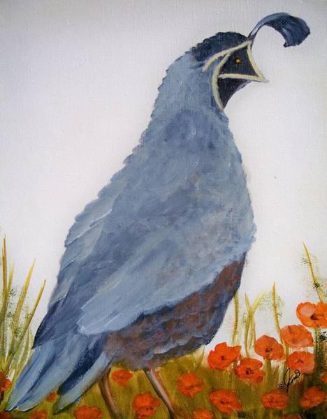 Painting - Quail by Joni McPherson