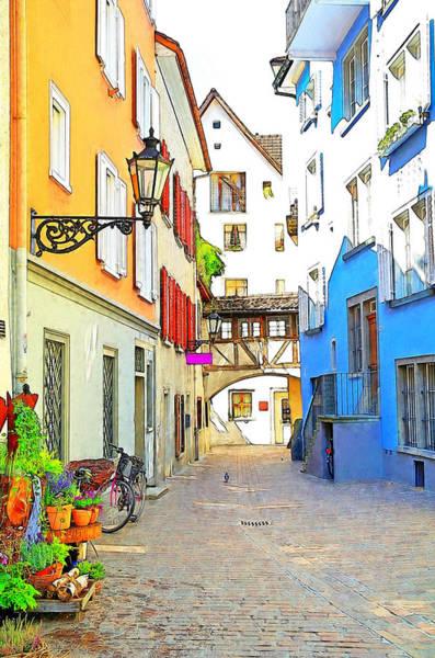 Brick House Mixed Media - Quaint Austrian Town by Maria Dryfhout
