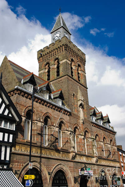 Photograph - Quaint English Town Hall - Congleton Cheshire England by David Hill