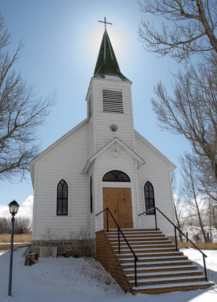 Photograph - Quaint Montana Church by Fran Riley