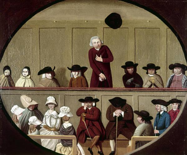 Wall Art - Painting - Quaker Meeting, 1790 by Granger