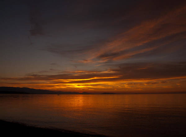 Photograph - Qualicum Sunset by Randy Hall